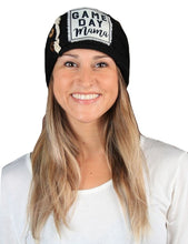 SJ Lace Button Warm Stretch Game Day Mama Headband Wrap Black