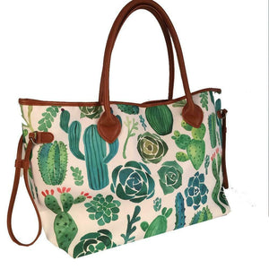 Large Cactus Tote Aztec Southwestern Shopping Beach Shoulder Bag Handbag Purse