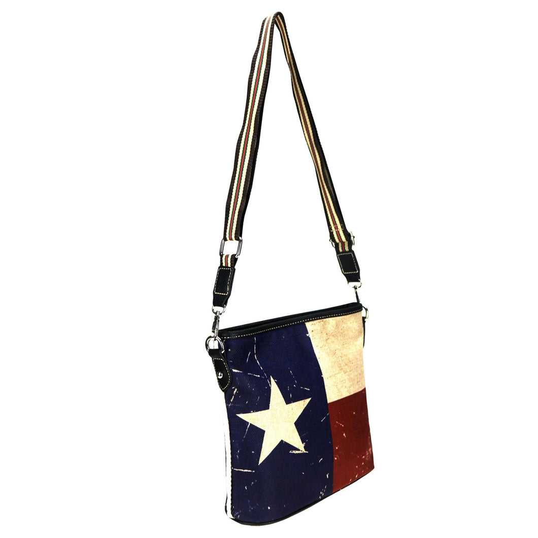 Montana West Western Texas Patriotic Purse Messenger Bag Star Stripes Red White Blue