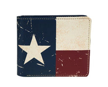 Montana West Mens USA Texas Bifold Leather American Flag Star Patriotic Wallet
