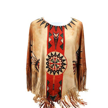 Montana West Western Ladies Fringe Hippy Poncho Aztec Shirt Top