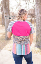 Crazy Train Leopard Cheetah Serape Aztec Western Short Sleeve Shirt