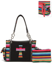 Serape Aztec Cross Concealed Carry Handgun CCW Shoulder Bag Purse Set