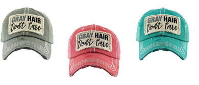 Gray Hair Dont Care Baseball Cap Western Southern Ladies Womens Distressed Hat