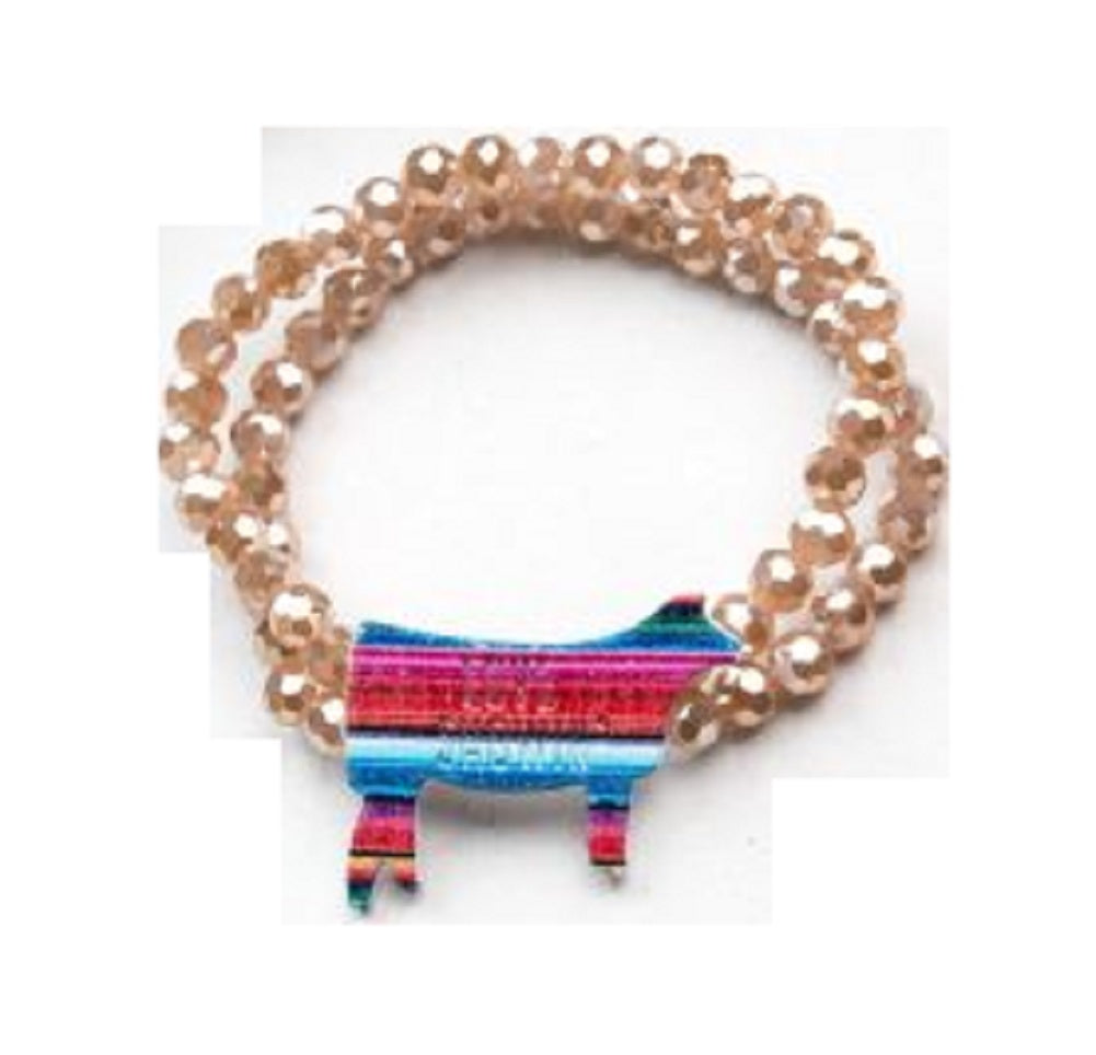Love Showin' Serape Steer Bracelet Womens Girls AG Cow Western Jewelry
