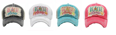 Adjustable Beach Please Sea Shell Star Vented Mesh Baseball Cap Hat