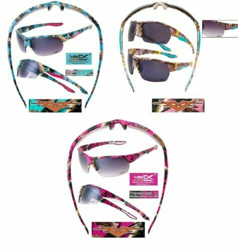 Camo Sunglasses Womens Vertex Western Shades Purple Pink or Blue