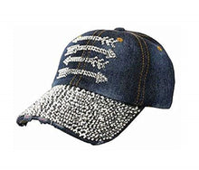 Womens Extra Bling Arrows Baseball Cap Aztec Hat Denim or Black