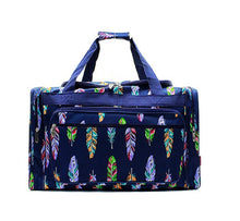 "20"" Duffel Travel Luggage School Gym Camp Dance Bag Camper Pig Dog Feather Unicorn or Aztec"