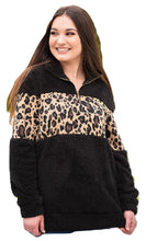 Leopard Cheetah Sherpa Shirt Pullover Lightweight Jacket Women Clothing Black