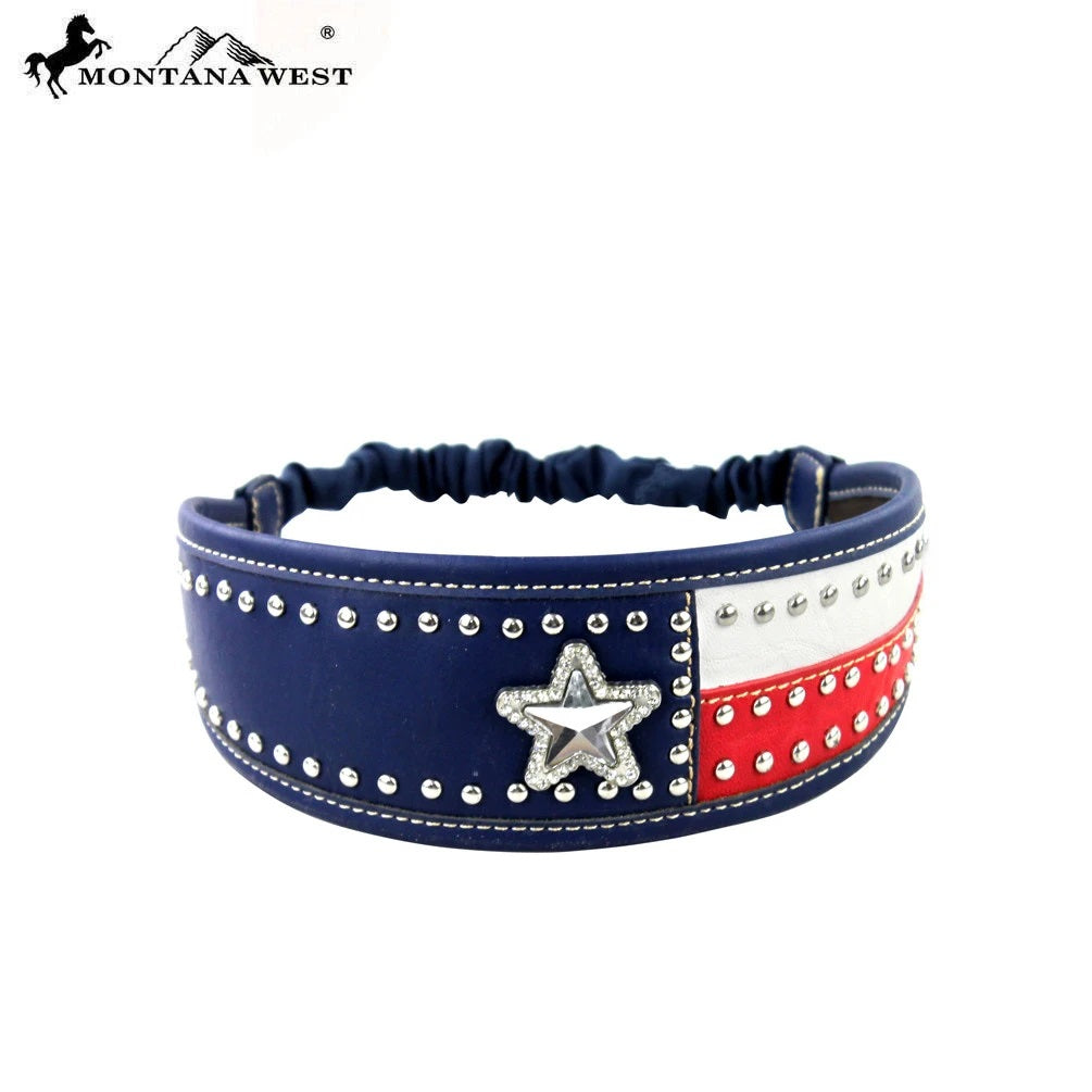 Montana West Texas Flag Headband American Lone Star Patriotic Stretch Hairband