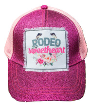 Ashlyn Rose Rodeo Sweetheart Baseball Ponytail Hat Cowgirl Western Cap Pink
