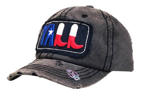 Adjustable Vintage Distressed Texas Lone Star Boots Yall Hat Cap Black Gray Red White Blue