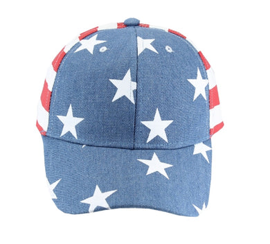USA Hat Stars Patriotic America Adjustable Stars Stripes Baseball Cap