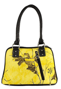 Realtree Tropical Heat Camo Concealed Carry Gun Weapon Cross Purse Bag Yellow Black