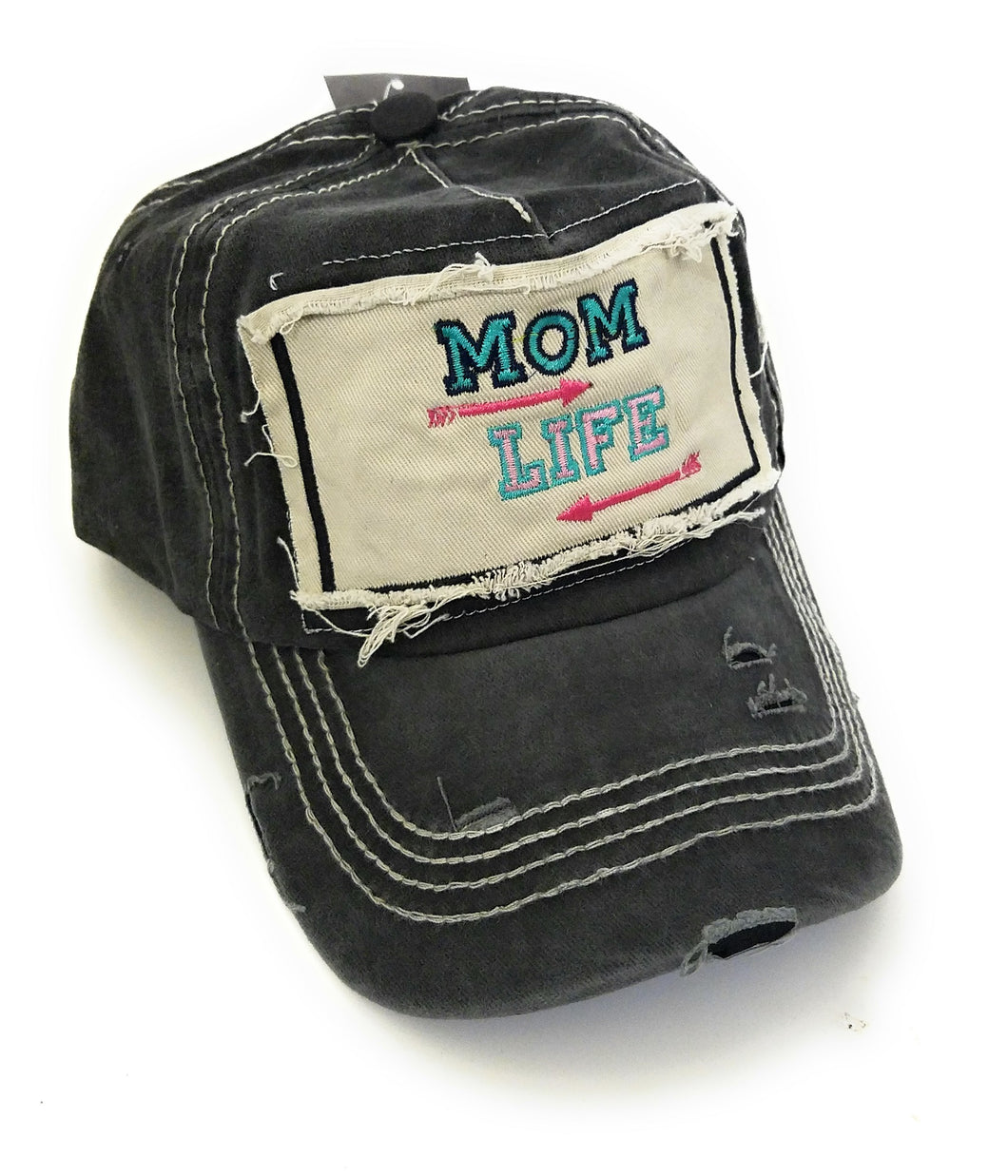 Sunshine&Rodeos Vintage Distressed Mom Life Aztec Arrow Hat Cap Black Gray Turquoise Blue Pink Cheetah Leopard