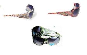 Dark or Light Pink or Green Camo Bling Rhinestone Western Womens Girls Sunglasses