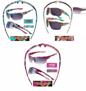 Vertx Blue Pink Purple Camo Western Camouflage Hunting Fishing Camping Sunglasses
