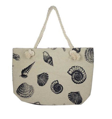 Sea Shell Starfish Beach Shopping Diaper Bag Tote Purse Bag Beige Khaki Tan