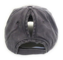 High Ponytail or Messy Bun Ponycap Hat Cap Camo Blue Purple Black Gray Tan Khaki Brown