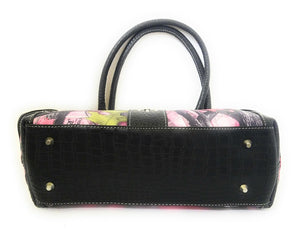 Sassy B Pink Camo Concealed Carry Gun CCW Bling Buckle Satchel Shoulder Bag Purse Black