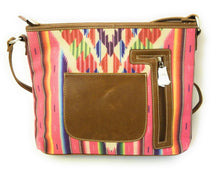 Montana West Aztec Serape Geometric Concealed Carry Messenger Bag Crossbody Purse Pink Blue