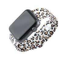 Cheetah Leopard Silicone Replacement Wrist Watch Band Beige Tan Brown for 38MM