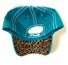 Hashtag # Mom Life Leopard Hat Cheetah Vintage Distressed Womens Adjustable Cap