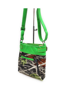 BHW Soft Camo Bling Gun Wings Concealed Carry Messenger Bag Rhinestone Purse