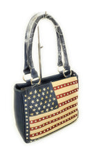 HX USA Concealed Carry Purse American Patriotic Stars Flag July 4th Bag Red Blue