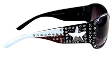 Montana West Lone Star Texas Flag USA Patriotic Bling Sunglasses Navy White Red