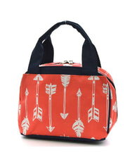 Aztec Feather Arrow School Insulated Lunch Box Bag Pink Orange Blue Green Black