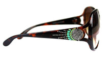 Montana West Turquoise Aztec Swirl Concho Sunglasses Cheetah Black Brown White