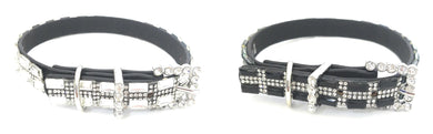 Adjustable Bling Rhinestone Belt Buckle Western Boot Strap Anklet Jewelry Black Clear