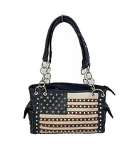 HX American USA Concealed Carry Purse Patriotic Stars Flag July 4th Shoulderbag Red Blue