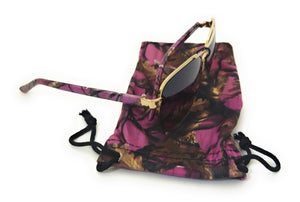 Vertx Camo Western Ladies Womens Sunglasses Drawstring Case Cover Purple or Pink