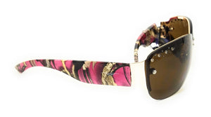 Vertx Camo Rhinestone Western Ladies Womens Fishing Hunting Camp Sunglasses Pink