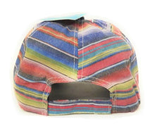 Adjustable Texas Lone Star State Serape Aztec Vintage Distressed Cap Hat Black