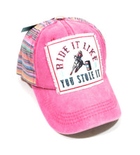 Adjustable Ride It Like You Stole It Hat Barrel Racer Horse Cowgirl Rodeo Cap
