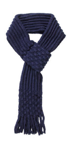 Adjustable Knit Winter Warm Neck Wrap Womens Ladies Pull Through Fringe Scarf