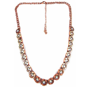 Bullet Western Cowgirl Jewelry 8mm Luger Faux Shell Necklace Copper Plated 18""