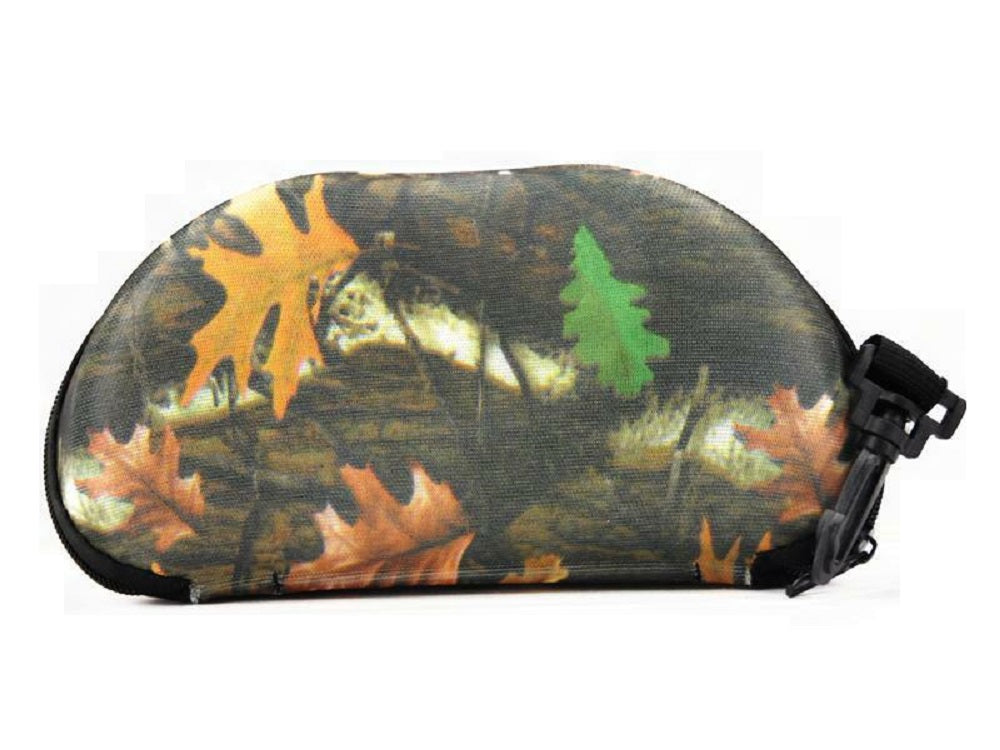 Camo Sunglasses Eye Glasses Zipper Travel Hard Case Cover Holder Clip Brown