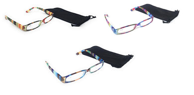 Chevron Serape Reading Glasses Eye Magnifiers Readers Soft Drawstring Case