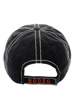 Adjustable This Aint My First Rodeo Boot Rope Vintage Distressed Hat Cap Black Brown