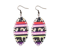 Lightweight Leopard Serape Stripes Teardrop Earrings Cheetah Aztec Bling Jewelry 4""