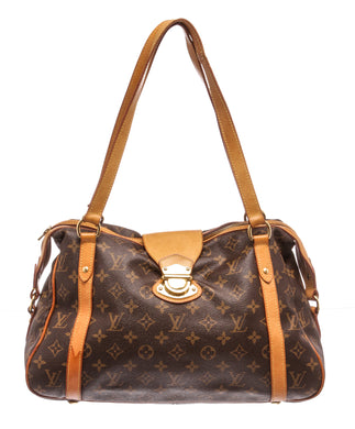 Authentic Louis Vuitton LV Monogram Stresa Pm Purse Shoulder Bag Handbag Brown