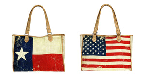 Montana West USA American Texas Flag Lone Star Shopping Diaper Bag Craft Tote Purse
