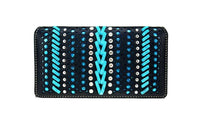 Montana West Croc Braided Concealed Carry Purse Wallet Set Turquoise Blue Black