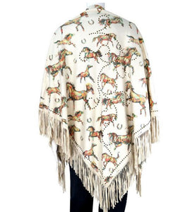 Montana West Fringe Tassel Hippy Winter Fall Western Womens Poncho Aztec Shawl Top or Wrap