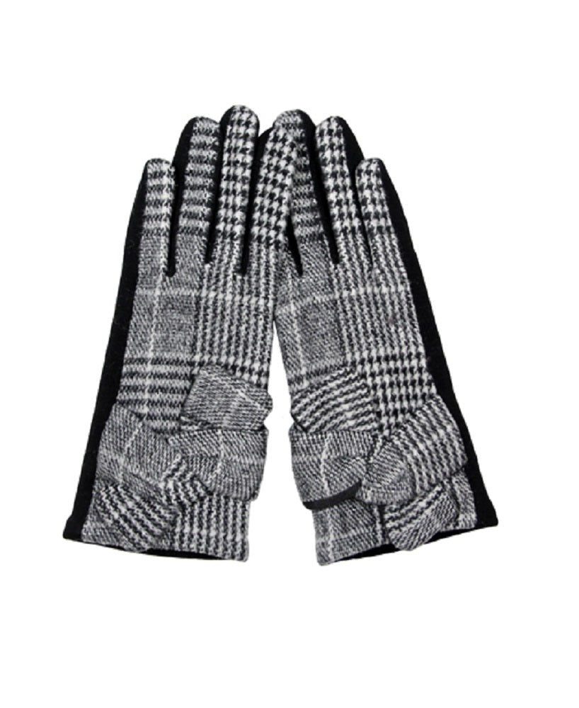 Plaid Touchscreen Finger Tip Gloves Tablet Pad Smart Cell Phone Compatible